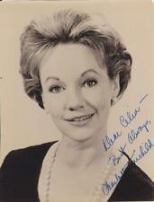 "CHARLOTTE FAIRCHILD d.2013 Signed ""To Celia,Best"" 8x10 Glossy B&W Photo   COA"
