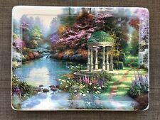Thomas Kinkade Garden of Prayer Nature's Retreats Plate Bradford Exchange 1998