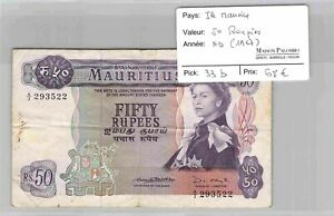 BILLET ILE MAURICE - 50 Roupies ND(1967) Pick 33b - N°293522