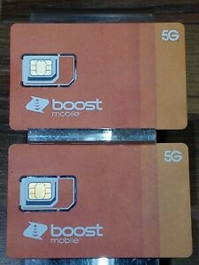 2-Pack Sim Card-5G-Expanded Network-TN (Boost Mobile) For iphones & Androids-New