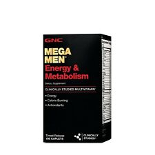 GNC Mega Men Energy and Metabolism 180 Caplets