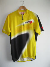 BRIKO * Retro Yellow Pattern 1/4 Zip Collar Cycle Bicycle Jersey * 2XL XXL *