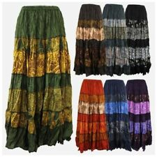 Regular Size Striped Long Skirts for Women
