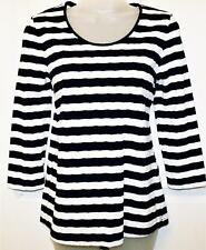 NEW DASH BEAUTIFUL BLUE & WHITE TEXTURED NAUTICAL STYLE TOP SIZE 10 # 298