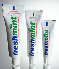 TOOTHPASTE TUBES WHOLESALE FRESHMINT 0.85 oz TRIAL SIZE/DENTISTS LOT OF 144