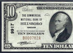OR 1929 $10 ♚♚HILLSBORO, OREGON♚♚   PMG CH VF 35   HARD TO FIND!!!