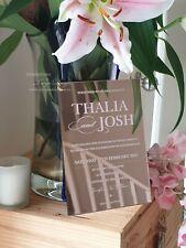 Rosegold Acrylic Wedding Invitation, clear transparent Australia, sample invite