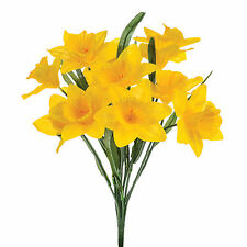 Artificial silk Daffodils bunch 14 stems yellow 16 inch Spring flowers
