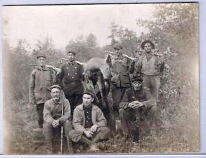 Hunting Postcard RPPC Hunting Party Four Named Men & A Deer
