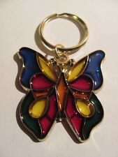 Stained Glass Style, Butterfly Key Chain Brand New