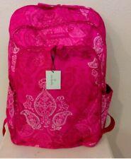 VERA BRADLEY Laptop Backpack Stamped Paisley Pink Nylon  NEW