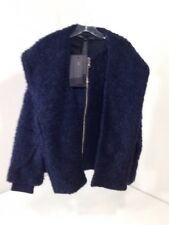 MARC JACOBS WOMEN'S TEXTURED WOOL-BLEND JACKET NORMANDY BLUE XS/S NWT $578
