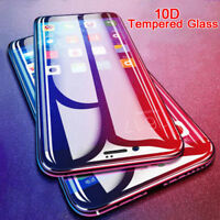 100% Genuine 10D Tempered Glass Screen Protector For iPhone X XS Max XR 8 7 + 6s