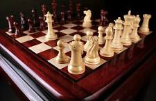 The Contemporary Staunton Series Weighted Chess Set &Board Combo in Bud Rosewood