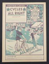 Protège cahier CYCLES ALL RIGHT vélo cyclisme bike Farrhad copybook