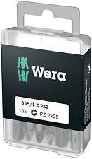 Wera 05072404001 DIY PZ 2 x 25mm Pozidriv Insert Bit, 10 Piece