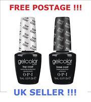 OPI GelColor Top & Base Coat SET OF TWO 2x15ml Gel Colour Polish UV LED LAMP !!!