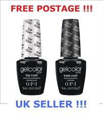 OPI GelColor Top & Base Coat SET OF TWO 2x15ml Gel Colour Polish UV LED LAMP !!!