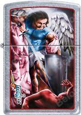 Zippo Claudio Mazzi Designed Angel SAN MICHELE Street Chrome Lighter NEW Rare