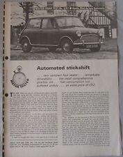 1967 Austin Mini de luxe Automatic Original Motor magazine Road test