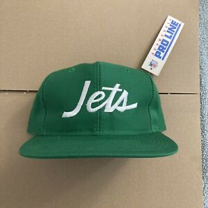Vtg NWT New York Jets Snapback Hat Sports Specialties Script Twill Logo Athletic