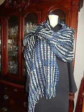 "Ostinelli Italy Womens Scarf Shawl Multi Color 61 5 + 3"" Fringe X 22"" wide"