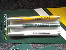 Caterham 3 Gel Pen set Caterham F1 Team Official Merchandise