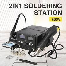 8582 2 in 1 Soldering Rework Stations SMD Hot Air & Iron Gun Desoldering Welder