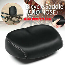 MTB Bike Saddle Wide Comfort Seat Noseless Extra Soft Pad Big Bum Mountain Cycle