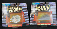 1997 Star Wars Micro Machines Die cast Imperial Destroyer & Millennium Falcon 28
