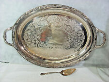 Wm Rogers Victorian Rose Butler Tray #1981 & Magnolia Extra Plate Pastry Server