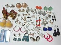 Large lot 37 pair pierced earrings. some vintage.