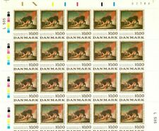Denmark Stamps Collection - Scott #767-8 Sheets (2) Mint Nh Cv $160