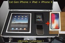 Sealed iPhone 2G, iPhone 10 X & iPad 1st Generation 8, 64, 256GB Collectible Set