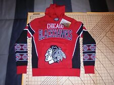 YOUTH LARGE NHL CHICAGO BLACKHAWKS KNIT HOODED SWEATER - NWT