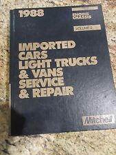 1988 Mitchell Manual Imported Car Light Trucks & Vans Engine Chassis Volume 2