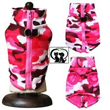 💚Trend.Hundeweste Mantel Softgeschirr Welpe Jacke Pullover Camouflage Rosa XS-L