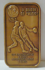 LOS ANGELES LAKERS NBA 1980 ANTIQUED BRONZE ART BAR RARE COLLECTABLE