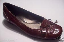 Naturalizer Valentine Red Black Patent Wingtip Loafer Flats Shoes Size 6 @cLOSeT