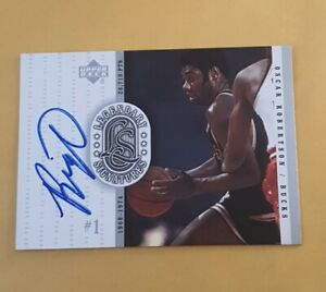 1999-00 OSCAR ROBERTSON Upper Deck Legendary Signatures  Auto on Card Mil Bucks