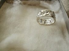 Nf .925 Band Ring Sz. 8 1/4