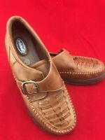 Women's Dr Scholl's 7 1/2 Bridle Leather Double Air Pillo Shoes Loafers Brown