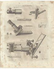 1798 MICROSCOPE solar opaque Tooth & Pinion SCIENTIFIC INSTRUMENTS plate print