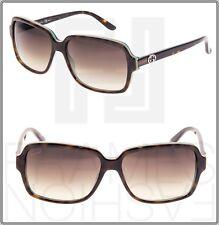 GUCCI WEB LOGO 3583 Square Brown Tortoise Green Gradient Sunglasses GG3583S