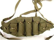 SURPLUS ORIGINAL VIETNAM WAR BANDOLIER CHINESE TYPE 56 AK CHEST RIG AMMO POUCH