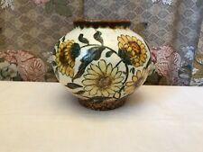 Kugelvase Vase Sonnenblumen Niederlande Gouda top Teil vermutl. Art Deco