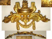 Ancien lot de 2 ornement Frontons, plaques en bronze pour miroir, meuble empire