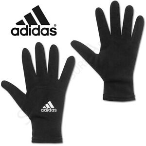 Adidas Mens Gloves Knitted Fleece Running Sports Winter Warm Adults Black