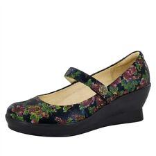 ALEGRIA PG Lite NIB $139 Floral Flair Wedge Maryjane Shoes Winter Garden Size 12