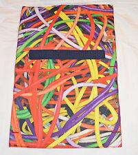 Bnwt hollister multicolore câble imprimer déplacements tech pochette rrp £ 15